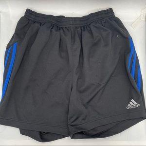 Adidas Black & Blue Climalite Athletic Shorts